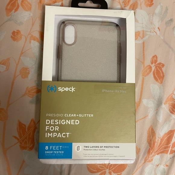 Speck clear glitter iphone case